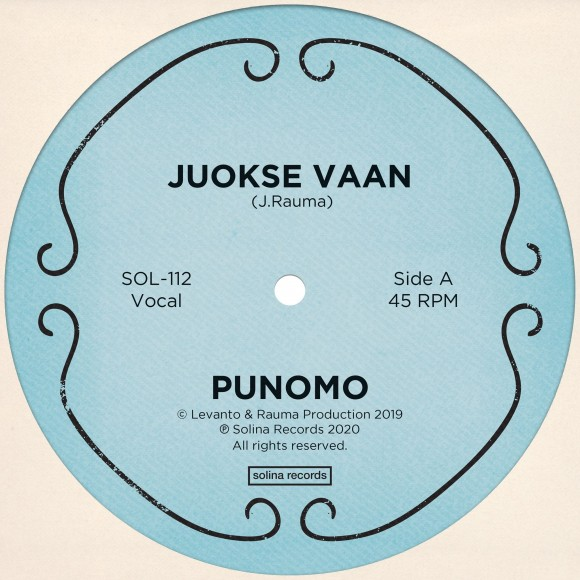 Punomo_Juokse Vaan_Single_Solina Records_front cover