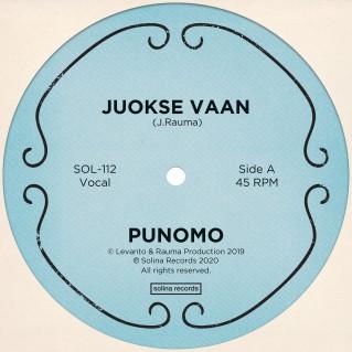 Punomo_Juokse Vaan_Single_Solina Records_front cover